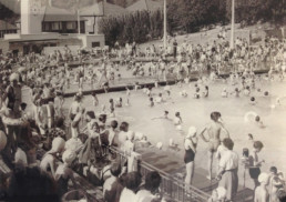 Broomhill open air swimming pool ipswich for Mounts swimming pool northampton